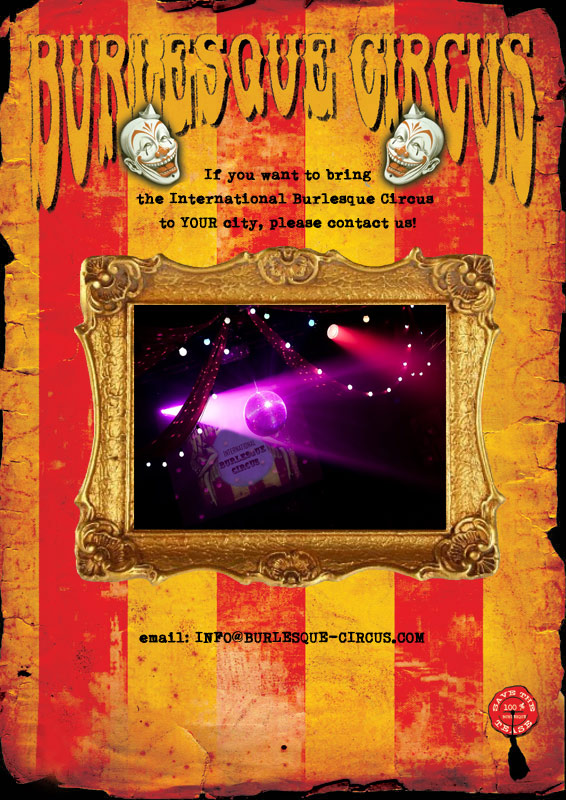 book the International Burlesque circus show for your event!