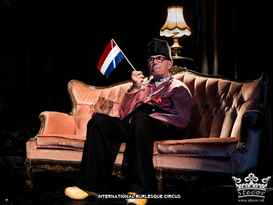 the jury at the International Burlesque Circus Burlypicks Netherlands - the Dutch edition