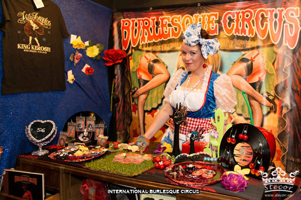 the Burlesque Circus Merchandise & Souvenirs at the International Burlesque Circus Burlypicks Netherlands - the Dutch edition