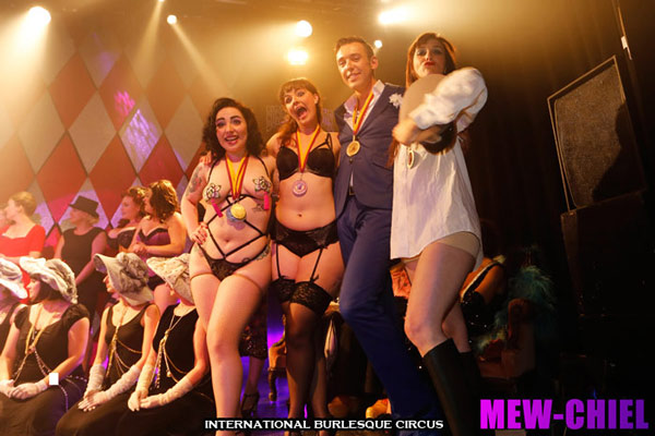 the winners at the International Burlesque Circus Burlypicks Netherlands - the Dutch edition