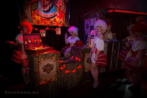 charity and merchandise at the International Burlesque Circus- the Freaks & Geeks edition - dressed up by Wild Poppies