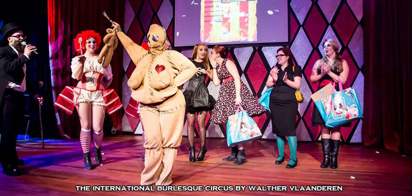 best drressed contest and charity lottery winners at the International Burlesque Circus- the Freaks & Geeks edition