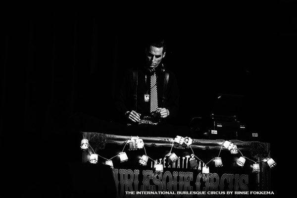 DJ Sabotage at the International Burlesque Circus - the Wicked Wedding edition
