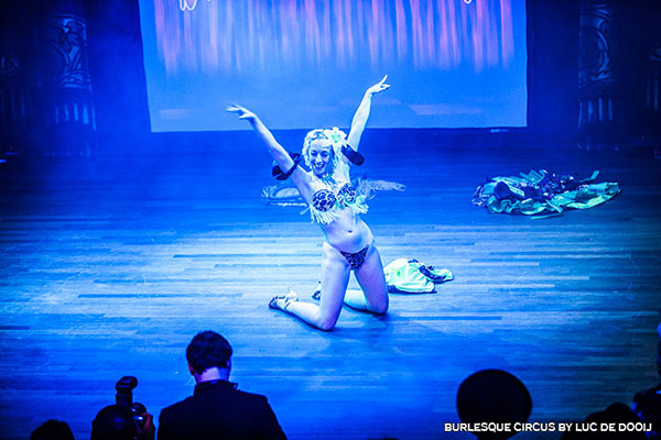 burlesque show at the International Burlesque Circus - the Exotic Sensations edition