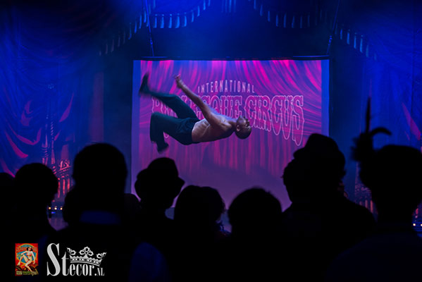 acrobatic show at the International Burlesque Circus - the Exotic Sensations edition