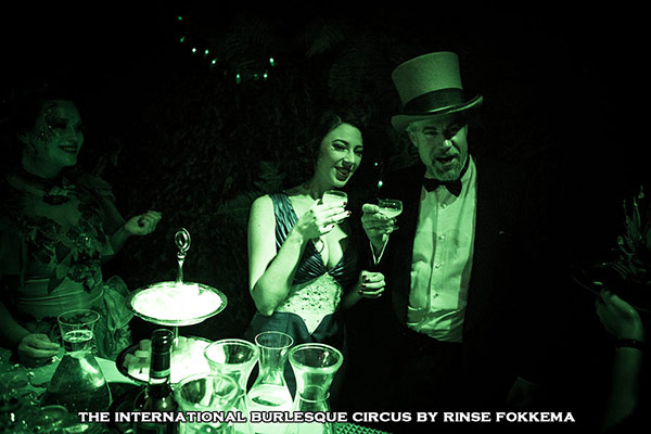 absinthe bar  at the International Burlesque Circus, the Old Hollywood Glam edition