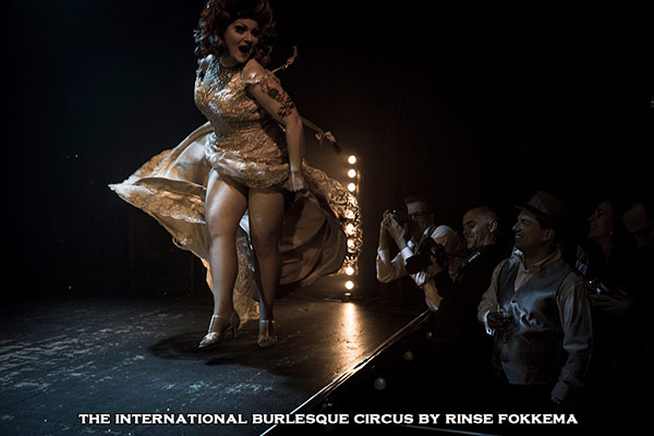 Lady Francescca performs at the International Burlesque Circus, the Old Hollywood Glam edition