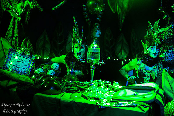 absinthe fairies at the Outer Space edition of the International Burlesque Circus in Utrecht