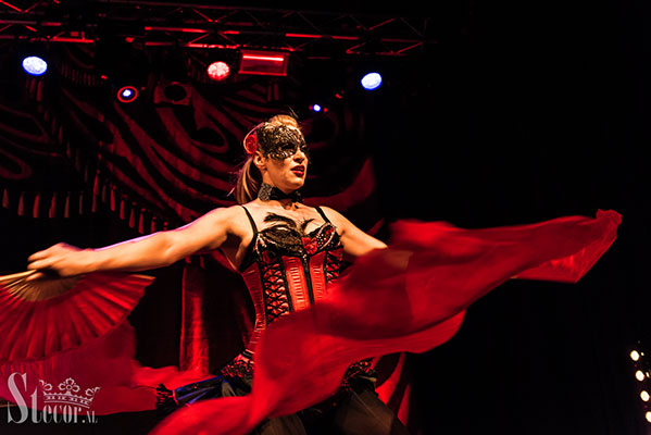 the Masquerade edition of the International Burlesque Circus at de Helling in Utrecht