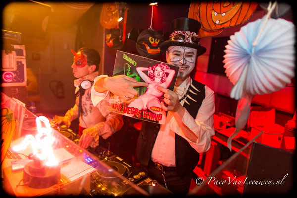 DJs at the Halloween edition of the International Burlesque Circus