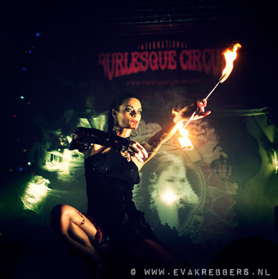 fireshow at the Halloween edition of the International Burlesque Circus