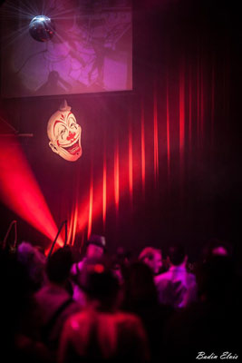 stage at the Halloween edition of the International Burlesque Circus
