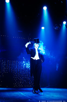 Mr Pustra as MArlene Dietrich at The International Burlesque Circus - The Glamour edition
