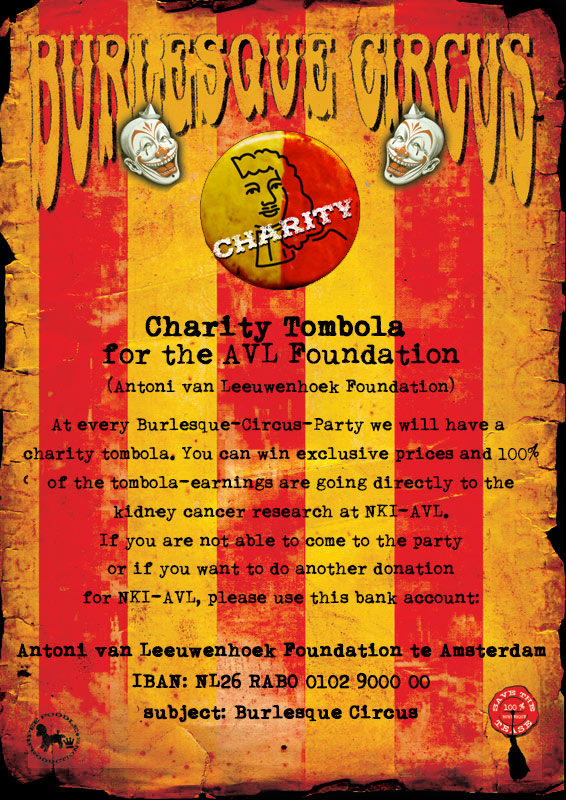 Burlesque Circus Charity Tombola for NKI-AVL