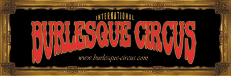 Banner of the International Burlesque Circus